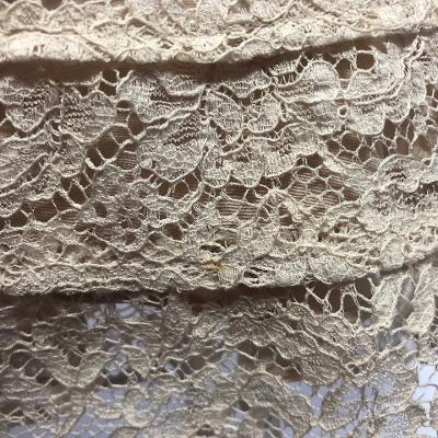 two tone flare lace dress